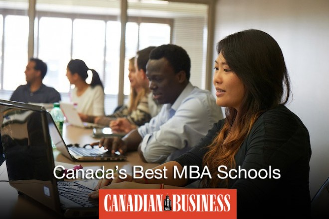 加拿大院校的 MBA 宣传图片