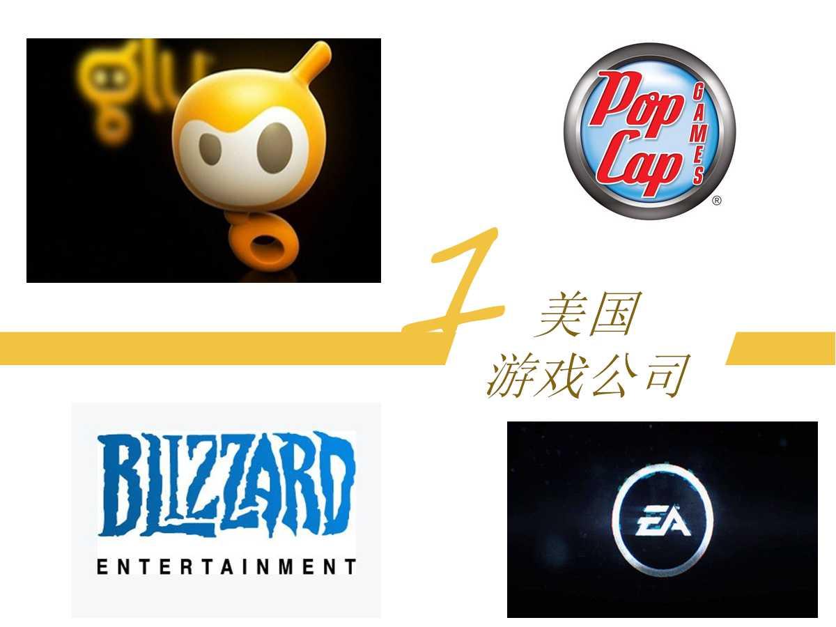 美国知名游戏厂商